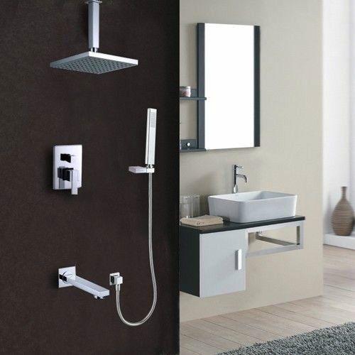 Ceiling Rain Shower System (Shower Head, Hand Shower,Tub Faucet Spout U0026  Valve