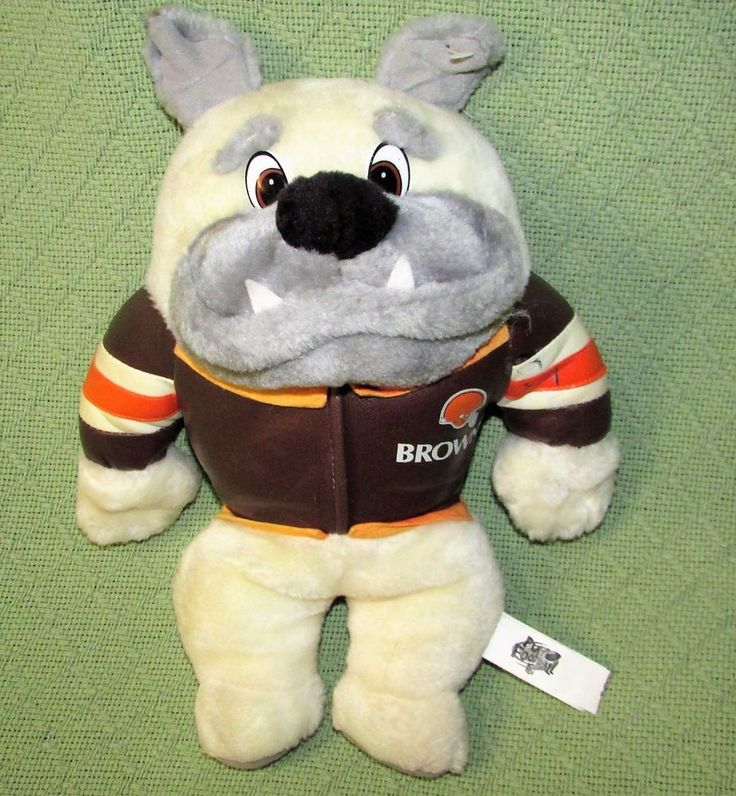 "Play By Play BRONCOS Bulldog Plush 12"" NFL Play Football Stuffed Animal Sports  #PlaybyPlay"
