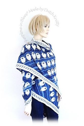50 best ❅ Knitting: FAIR-ISLE SHAWLS, Poncho's & WRAPS for cold ...