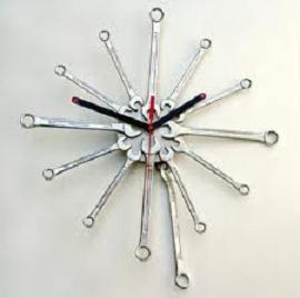 Cómo hacer un reloj con llaves fijas - eMujer.com