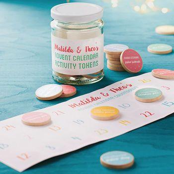 Personalised Advent Calendar Activity Tokens Jar