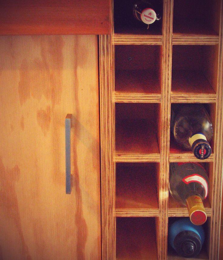 Espacio para botellas