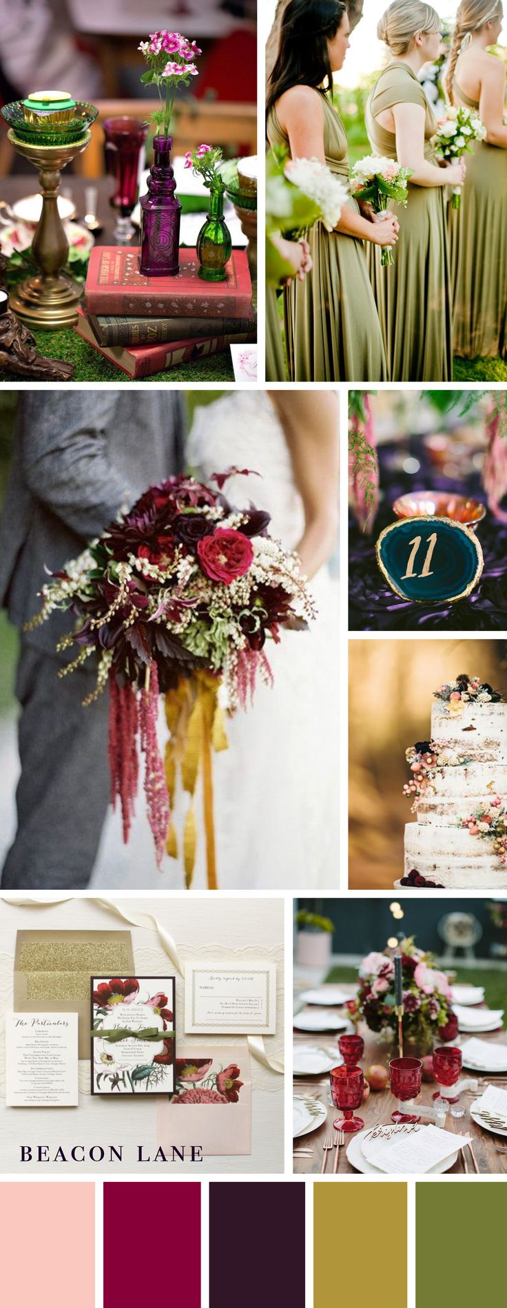 Jewel Toned Wedding Color Inspiration By Beacon Lane. Check out more inspiration here: http://www.beaconln.com/blog/jewel-toned-wedding-color-inspiration/