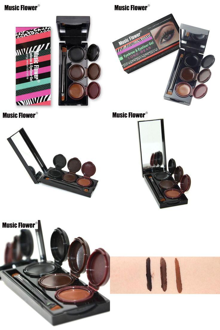 [Visit to Buy] New Brand Music Flower Makeup Eyebrow Powder & Eyeliner Gel Palette Waterproof Smudgeproof Lasting Cosmetics Eye Brow Enhancers #Advertisement