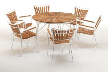 Kerteminde havemøbelsæt med 6 stole 9497 kr