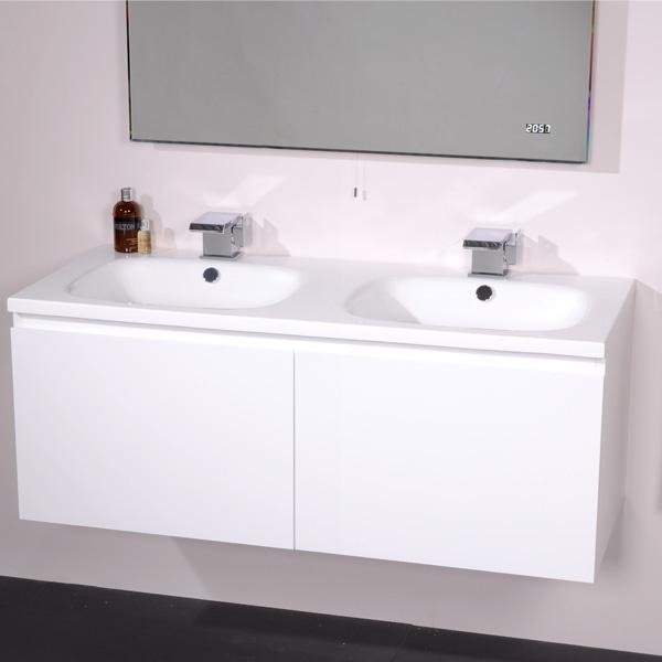 White Vanity Sink Unit Home Design Plan