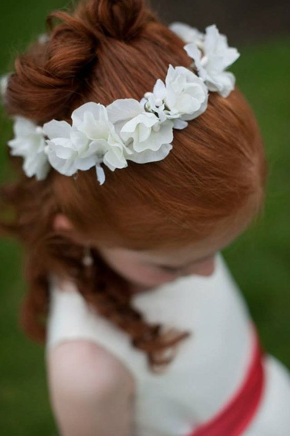 Flower Girl White Sweet Pea Flower Girl or first communion