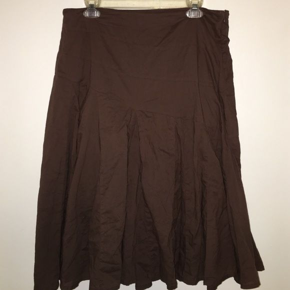 Brown Flowy Business Casual Skirt Brown Flowy Business Casual Skirt with hidden zipper on the side a.n.a Skirts Midi