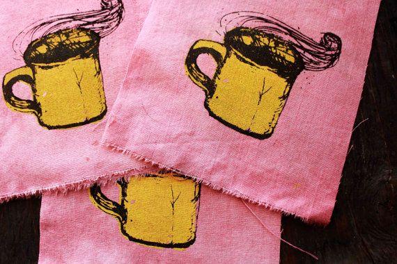 NEW Pink and Yellow d r e a m y CUP Patch by PeachMoonDIY on Etsy