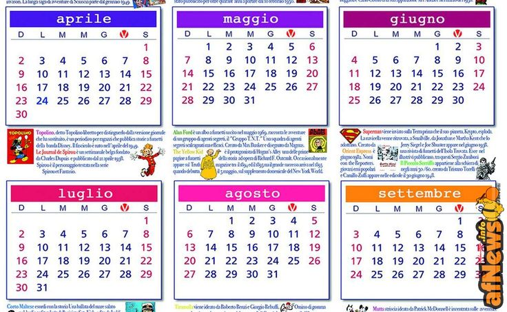 Il Calendario dei Fumetti - http://www.afnews.info/wordpress/2017/01/17/il-calendario-dei-fumetti/