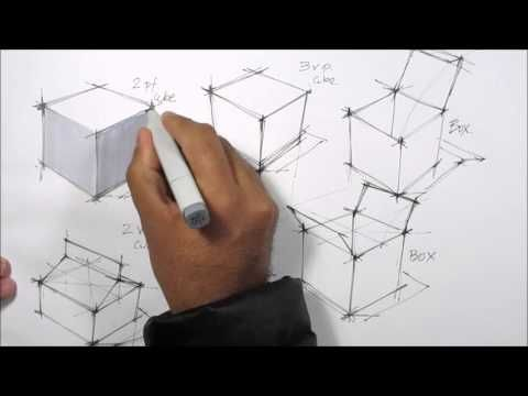 basic sketching techniques cubes
