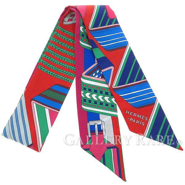 エルメス スカーフ ツイリー シルクツイル ジグザグのサングル Sangles en Zigzag HERMES シルクスカーフ 2017年春夏コレクション