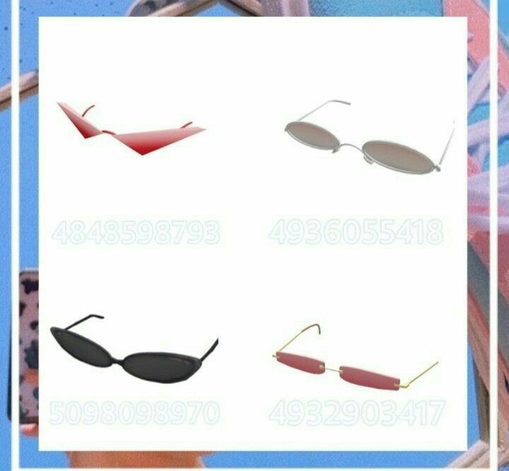 Roblox Halloween 2020 Lure Sunglasses #2 [not mine] in 2020   Roblox, Roblox codes, Roblox