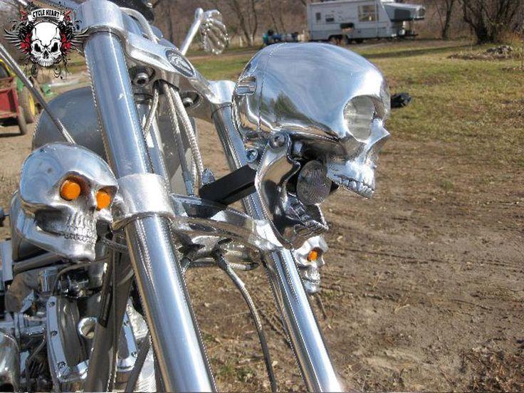 skeleton motorcycle halloween decoration