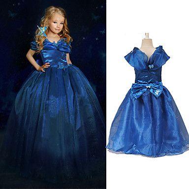 Girl's+Bow+Organza+Ball+Gown+Cinderella+Princess+Dress+–+USD+$+12.99
