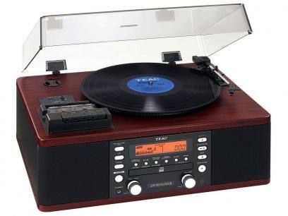 Vitrola TEAC LPR550 CD Player Fita Cassete - com Sistema HI-FI Entrada Auxiliar Rádio AM/FM com as melhores condições você encontra no Magazine Feirao24horas. Confira!