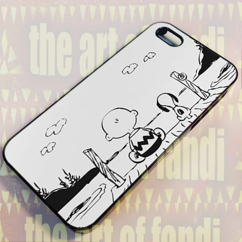 Snoopy and Friend For iPhone 5 Black Rubber Case