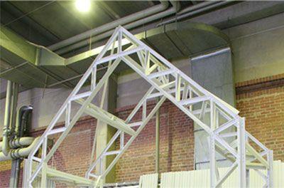 shigeru ban's pavilion for artek -a milan furniture fair 2007 - wood-plastic composite L-profiles