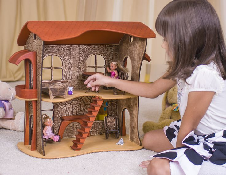 Wooden doll house wooden dollhouse #woodendollhouse #dollhouse #dollshouse #ucreator