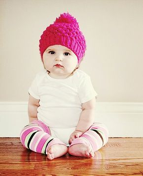 Image detail for -Baby wearing pink hat