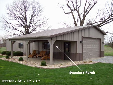 25 best pole barn garage ideas on pinterest for Metal garage with porch