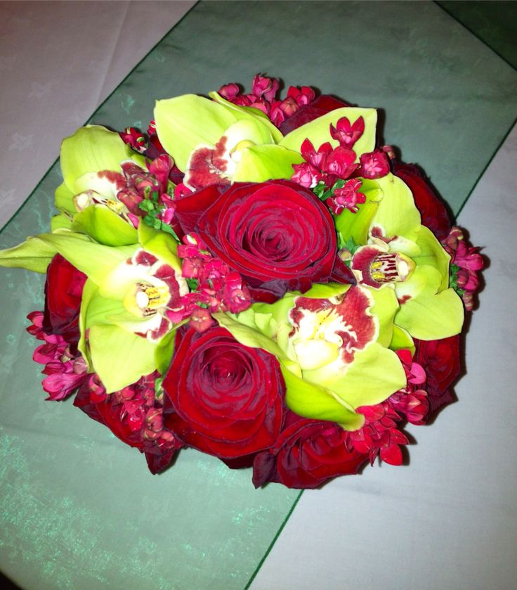 Red Roses & Orchids