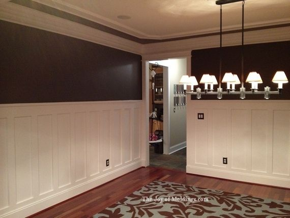 40 best images about paneling wainscotting and trim on pinterest wall treatments staircases - Dining room panels ...