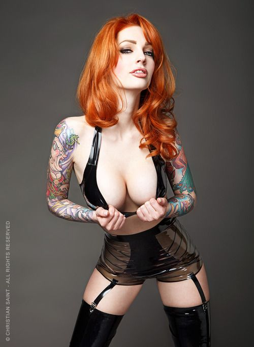 Gotta love a redhead!     WrestleMania by VanessaLake.deviantart.com #VanessaLake #Tattoos #RedHair