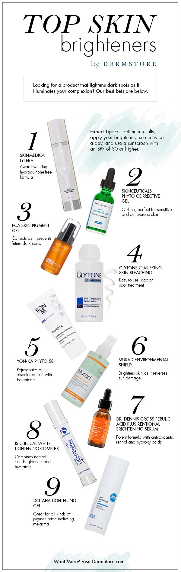 Clearer, brighter-looking skin—who doesn't want that? Brightening serums can do just that, if you know what to look for.