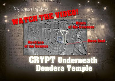 Crypt Underneath Dendera Temple, - WATCH VIDEO. Beneath the sand, among the walls, under the temple floor you'll find secret crypts...