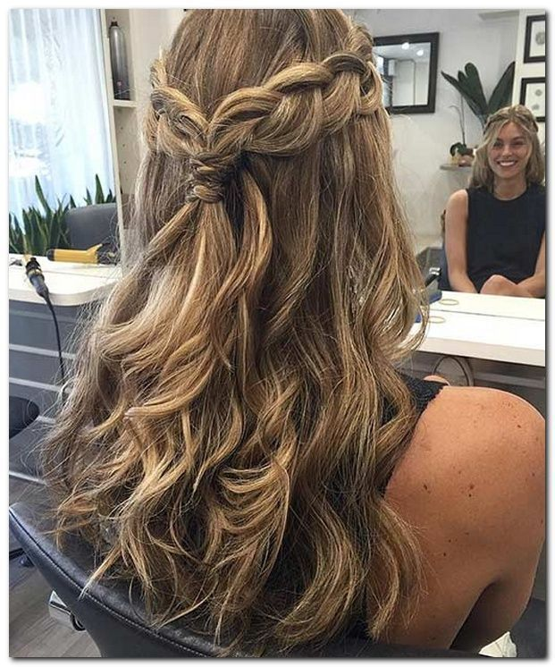 Easy Hairstyle Half Up Half Down Longhairstyleswithlayers Prom Hairstyles For Long Hair Hair Styles Down Hairstyles