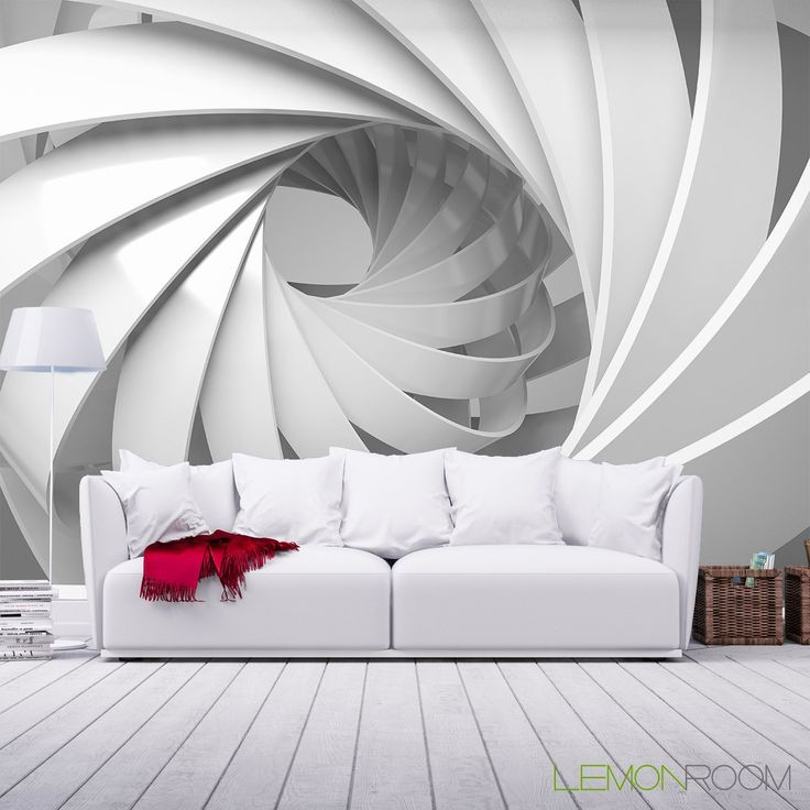 Jasno i trójwymiarowo. #Fototapeta 3D ➡ http://bit.ly/Spiral-3D   #Fototapety #murals #decor #wystrojwnetrz #design