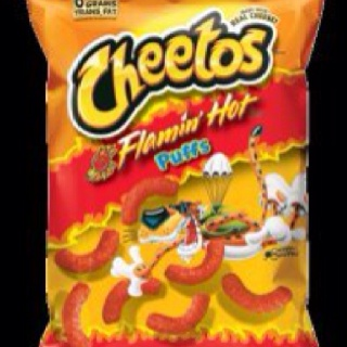 Obsessed with Hot Cheeto Puffs