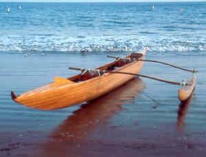 Outrigger canoe  Maui, HI