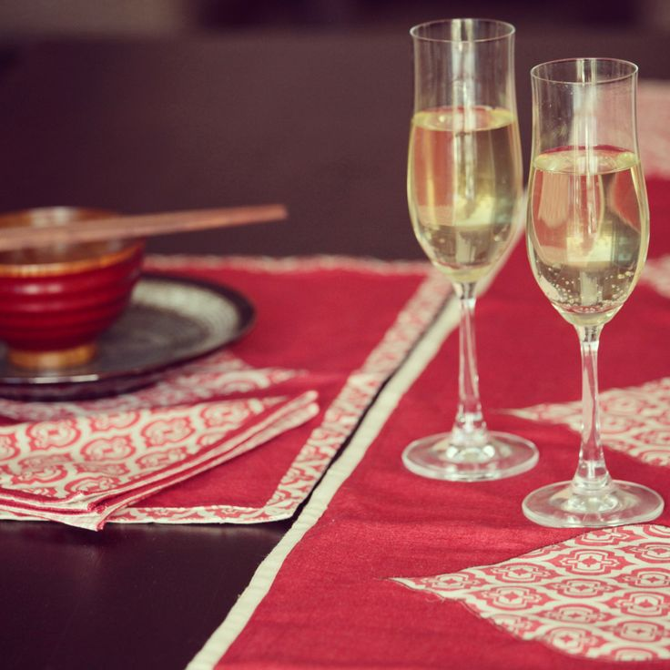 Fancy some alfresco dining? Check out our beautiful warm red linen/silk handscreenprinted range of table linen, currently on sale at www.shakiraaz.com.au