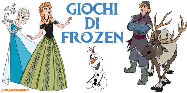 5 giochi di Frozen - Il Regno di Ghiaccio da stampare gratis