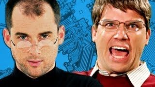 Steve Jobs vs Bill Gates. Epic Rap Battles of History Season 2., via YouTube.