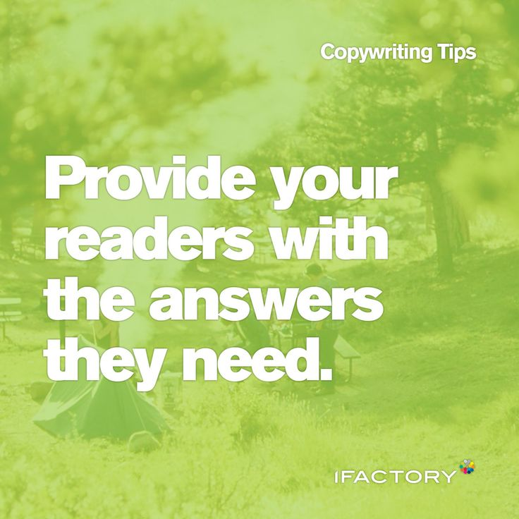 Copywriting Tips: Provide your readers with the answers they need #tips #tricks #ifactory #copy #copywriting  #answers #readers #content #digital #seo #advertising