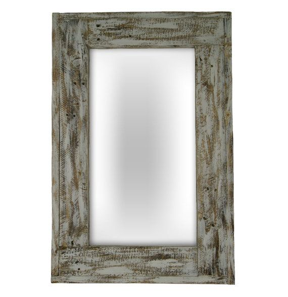 To creater mirror Big Case we used wood that has been antiqued. It was reclaimed wood from old pallets and has been carefully heated, polished and painted   The frame of this mirror is handmade therefore it has its own character and charm. There are no two identical mirrors! They will adorn your walls or your favorite room in the house and introduce an original atmosphere.  More mirrors: www.montevente.pl
