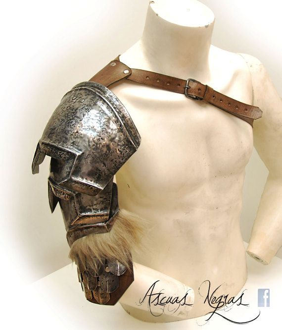 "Available in my etsy shop: www.ascuasnegras.etsy.com.  Fabricated in steel 1.2 mm / 18 ga , and 3.5 mm / 1/8"" thick leather. The hair is synthetic. buckles forged steel .  THE ARMOR CAN BE WORN OVER AN ORDINARY SHIRT WITH NO PROBLEM  The armor can vary in size depending on the size requirements of each customer. They will not necessarily be the size shown in the photograph."