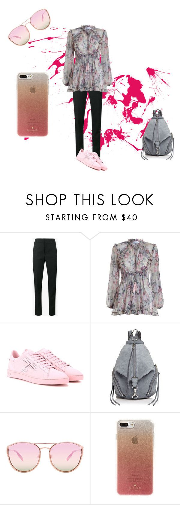 """""""Senza titolo #116"""" by mariapizzuto on Polyvore featuring moda, Yves Saint Laurent, Zimmermann, Tod's, Rebecca Minkoff, Quay e Kate Spade"""