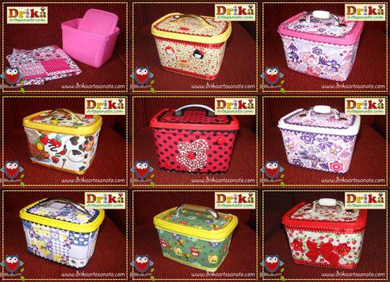 Artesanato em tecido: Pote de margarina decorado   Drika Artesanato - Dicas e sugestões sobre artesanato.