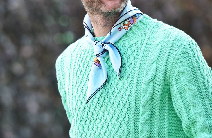 Seafoam/pastel trend in men's style, via Jak & Jil blog by streetstyle photographer Tommy Ton.