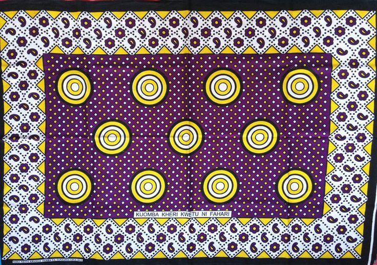 """Stoff afrikanisch - afrikanischer Stoff: Kanga """"Kringel""""  - ein Designerstück von Madukani bei DaWanda"""