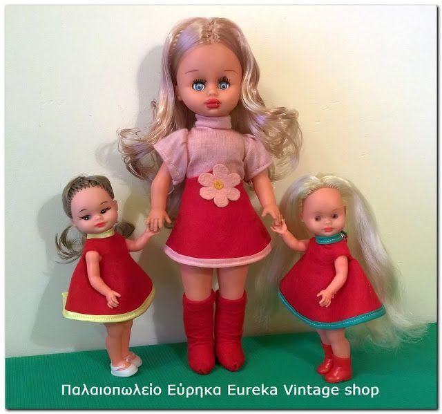 Αγαπημένες κούκλες από την εταιρία Μπέμπα της δεκαετίας 1970's , το Λιζάκι και η Νάντια. Οι κούκλες ήταν πολύ δημοφιλείς την περίοδο εκείνη. Όλες είναι σε πολύ καλή κατάσταση.