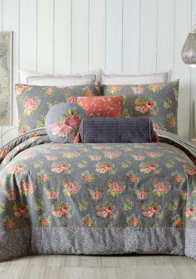 Jessica Simpson  Marteen Comforter Set - Gray - Queen Comforter, 2 Shams