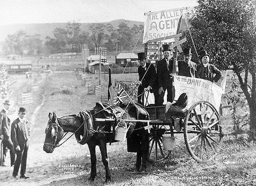 The Land Agent's display, Australia Day parade, Gosford 30 July 1915 by Gostalgia: local history from Gosford Library, via Flickr