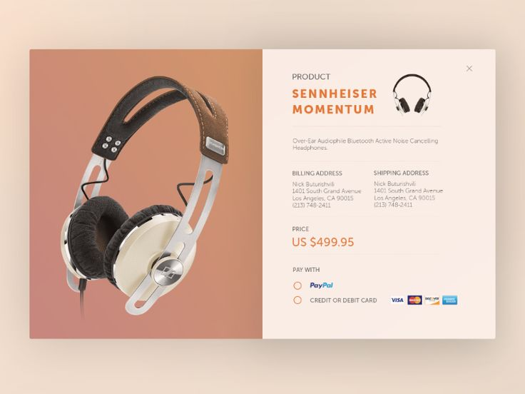 Second Design — dddribbble:   Product Card