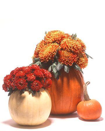 Pumpkin planters - cute idea