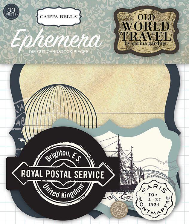 Old World Travel Ephemera Pack (EP) - Ninabrook Paper Crafting